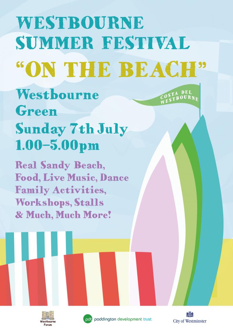 Westbourne Summer Festival 'On the Beach' flyer.