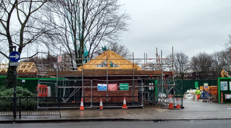 Optimise / Thames Water work site on Westbourne Green - February 2014