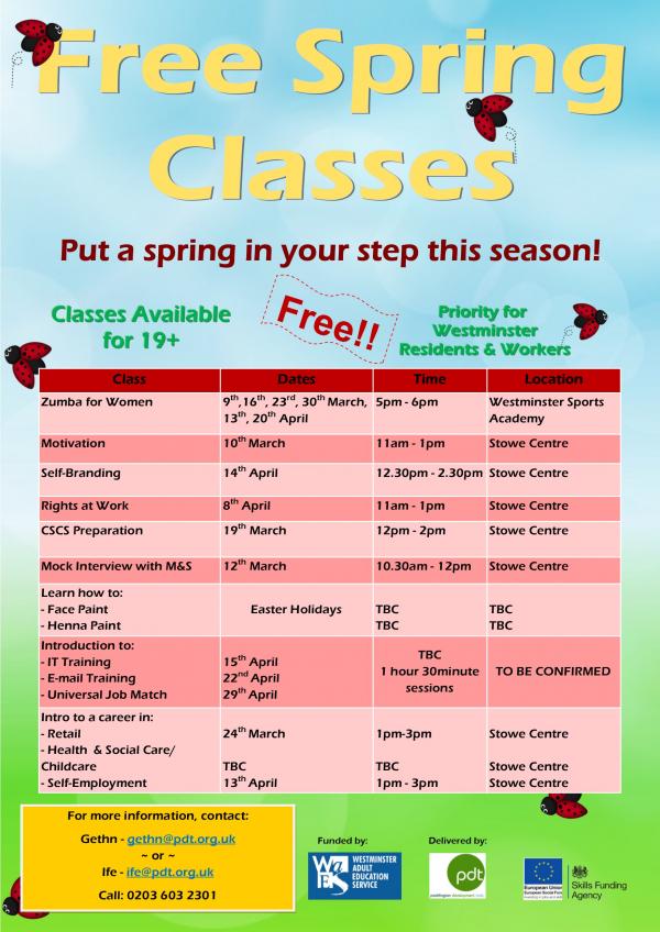PDT Free Classes