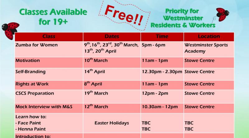 PDT Free Spring Classes