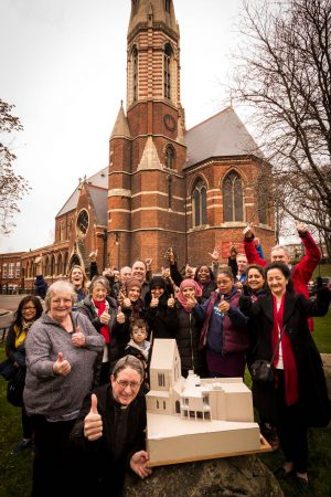 St Mary Magdalene's in Paddington with Father Henry and members of the community.