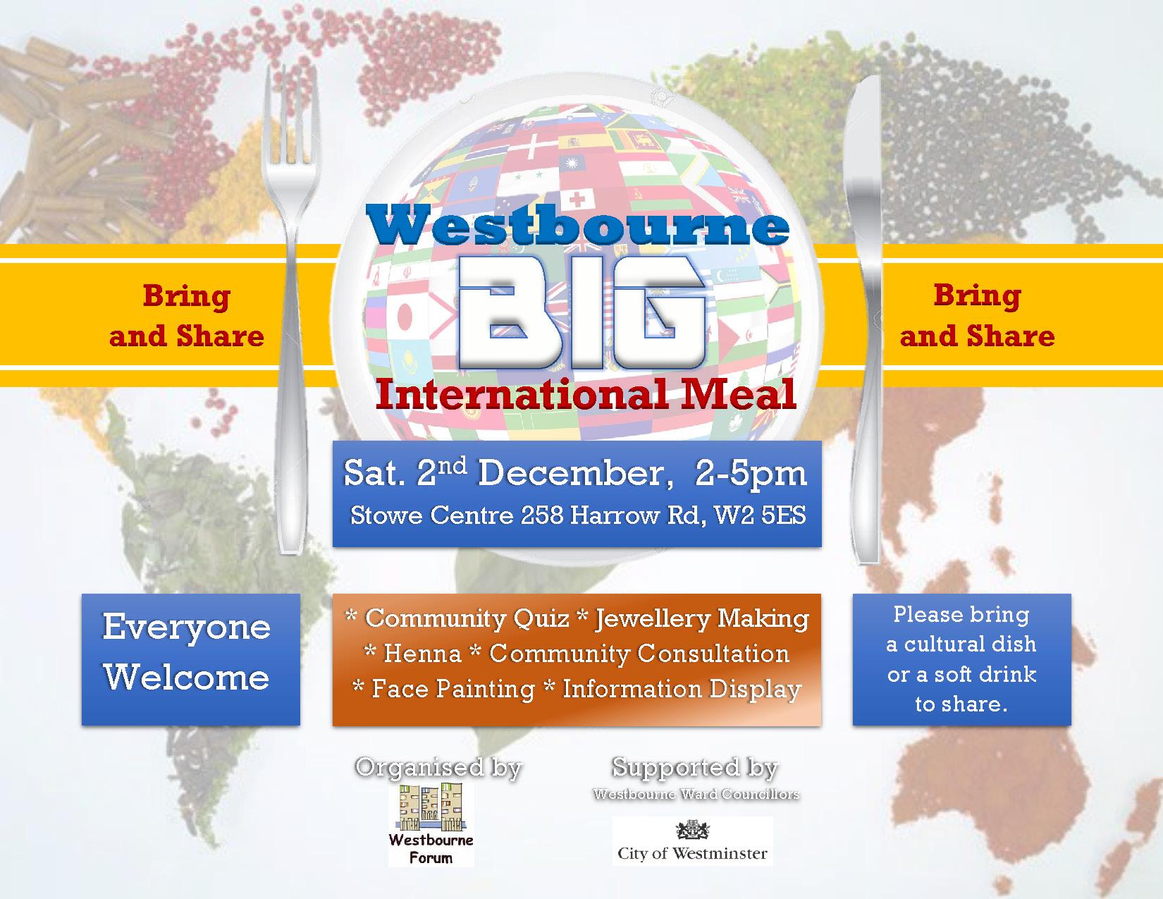 Westbourne Big International Meal - Bring and Share Leaflet