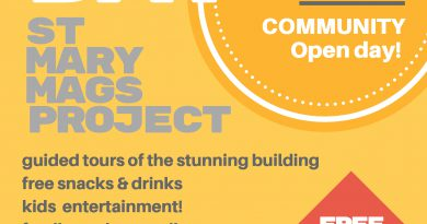 St Mary Mags Project Open Day – Saturday 17th November 1-4 pm