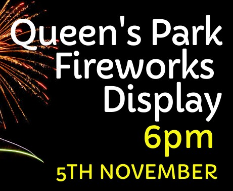 Queen's Park Firework Display - 5th November - 6 pm