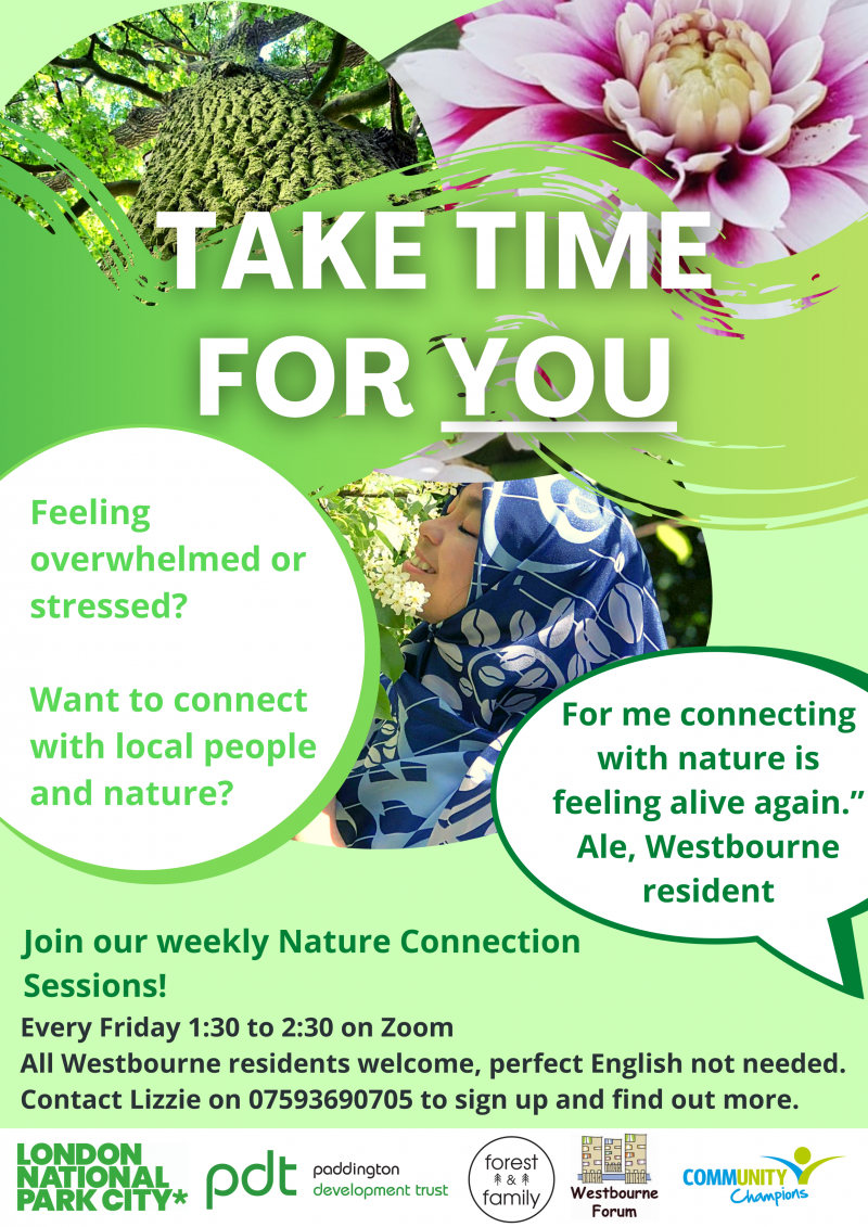 Feeling overwhelmed or stressed? Want to connect with local people and nature? Join our weekly Nature Connection Sessions! Every Friday 1:30 to 2:30 on Zoom