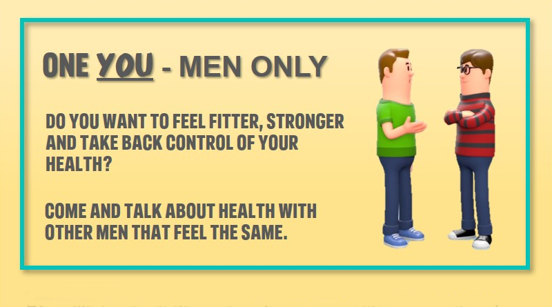 ONE YOU - MEN ONLY. FREE ten week weight management programme