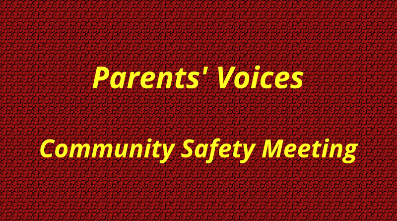 Parents' Voices - Community Safety Meeting - header image