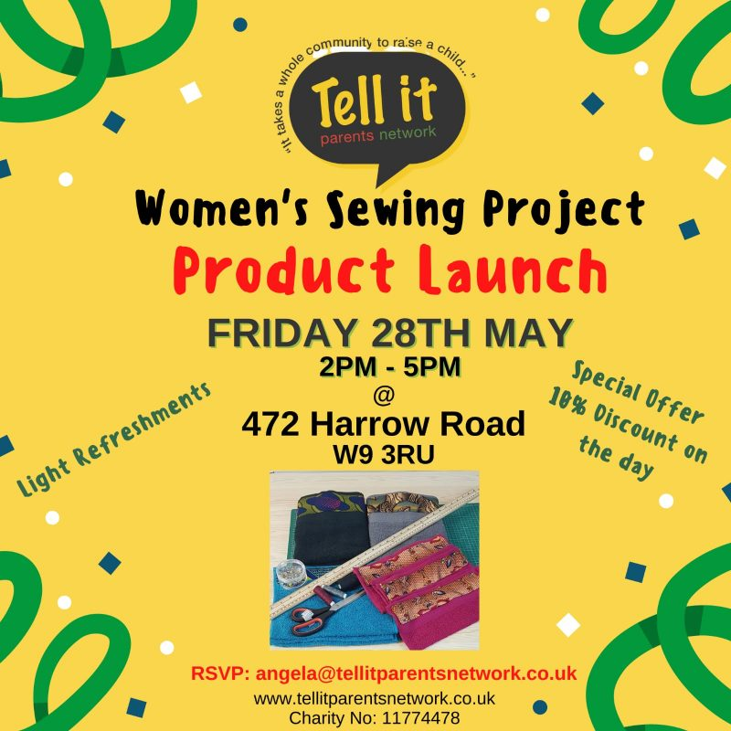 Women's Sewing Project - Product Launch - 28th May 2021